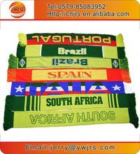 Hot sale wholesale 100%acrylic football scarf/jacquard football sports fan scarf