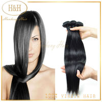 Alibaba Wholesale Cheap Indian/ Brazilian/ Peruvian/ European Remy Human Hair Silky Straight Hair Extensions