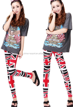 9245 2015 wholesale hot sale fashion autumn new sexy women european colorful flag printed girls cool trousers