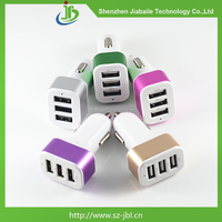 Wholesale 3 port usb mini car charger adapter for ipad/iphone6