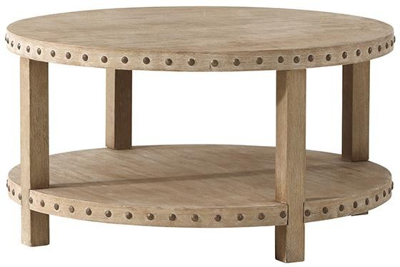 Nailhead Wooden Coffee Table 2 Tiers Buy Coffee Table Wooden Coffee Table Fancy Coffee Table
