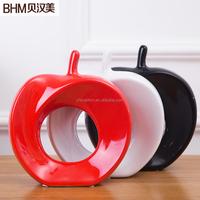 pigment colorful apple ceramic art craft for home deco