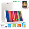 Portable Metal body 8inch big screen 1280*800 HD MTK8382 quad core android phone AM820