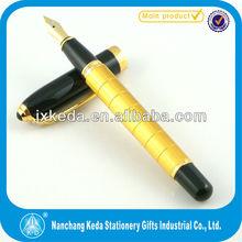 2014 cute promotional dicount golden and black royal pen (roller+ball+fountain pen)