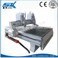 used wood lathe for sale New Conditionr double heads tool changing cnc wood 3d cnc router, handicraft 3d carving machinery