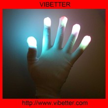 New style led light up fashion fabric led finger light gloves for party
