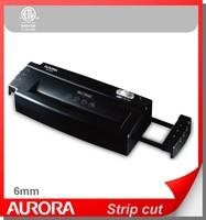 Aurora AS680S Plastic Paper Shredder, 6 sheet (A4) strip cut 6 mm, Light Duty Shredding machine for Home & Office