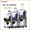 """Hard shell 3 piece 20""""/24""""/28"""" size colourful travel trolley luggage bag"""