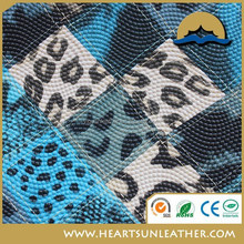 2015 MK style pvc leather animal printing design newest material for shoe and bag HJ50102-4 (pu cuero sinteticos)