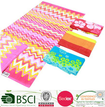 Cotton Double Side Printing Stripe Beach Towel