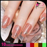 Y082S Silver feather Hot Stamping Water Transfer printing Nail Sticker melody nail stickers