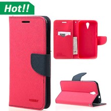 Hot sales cheap wallet leather phone case cover for htc desire 620