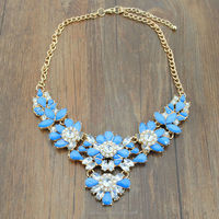 Yiwu Jewelry factory Ali express New fashion jewelry handmade statement necklace crystal collection jewelry