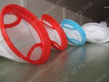 100 polyester mesh bag with plastic ring,PE liquid mesh bag
