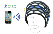 HOT removable sports fabric headwear bluetooth beanies hat with BQB certificate