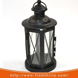 decoration black mini lantern for candles