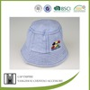 BSCI Audit dusty blue embroidered 100 cotton baby free pattern children bucket hat