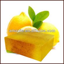 de limón fresco de la belleza blanqueo de jabón de baño