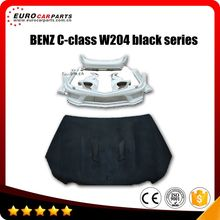 FRP W204 C63 A style black series body kit for C-class W204 sedan 12~14 year