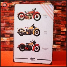 Brand motorcycle design antique tin signs
