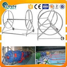 Stainless steel lane rope collector car lane line storage reel for swimming pool