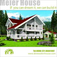 prefab timber villa /prefab wooden house