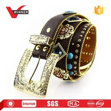New fashion stone embellished belts for lady