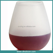 Soft platic silicone food grade wine cup