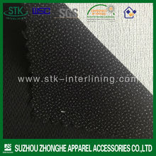 Best quality 140g fusing interlining polyester fabric for men's suit 2014