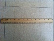 wood straight ruler with metal line10cm 15cm 20cm 30cm 50cm 1m