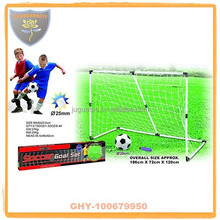 Plastic huge soccer goal with inflatable ball for boys