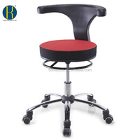 HY1033 Red & Black Fabric Low Price Hospital Chair with Backrest