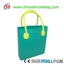 design for girls Silicone bag women silicone tote bag