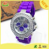 Latest girls silicone quartz popular advertising wrist watch