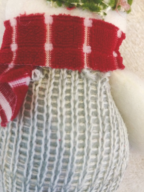 Christmas Knitting Quotes : Cute solid snowman knit christmas ornament gift for