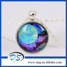Blue Sky Hot Sale Promotion Custom Products Moon Space Necklace