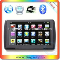 smart car gps navigation with multimedia player Wince Gps navigation add with av in,dvr,bluetooth and ISDB-T optional