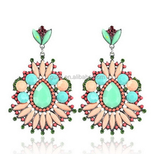 Latest Fashion Colorful Resin Millet Bead Earrings Personality New Model Earrings