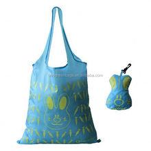 Cute rabbit animal design polyester printed shopping bags