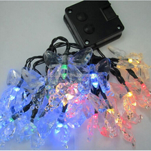20 LED flying butterfly light solar garden decoration lamp for holiday