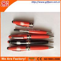2 in 1 mini fat stylus pen with ballpen
