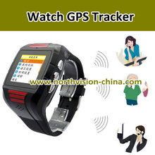 quad band gps watch tracker with free tracking system, sos button, call function, standby for 7 days