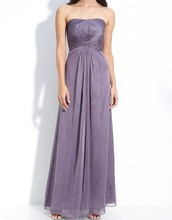 2015 New Sexy Chiffon One shoulder Princess Prom Dresses For Lady Siduo