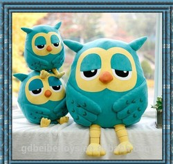 NBCU audited Plush Owl shape backpack stuffed soft big eyes Owl bags for girl