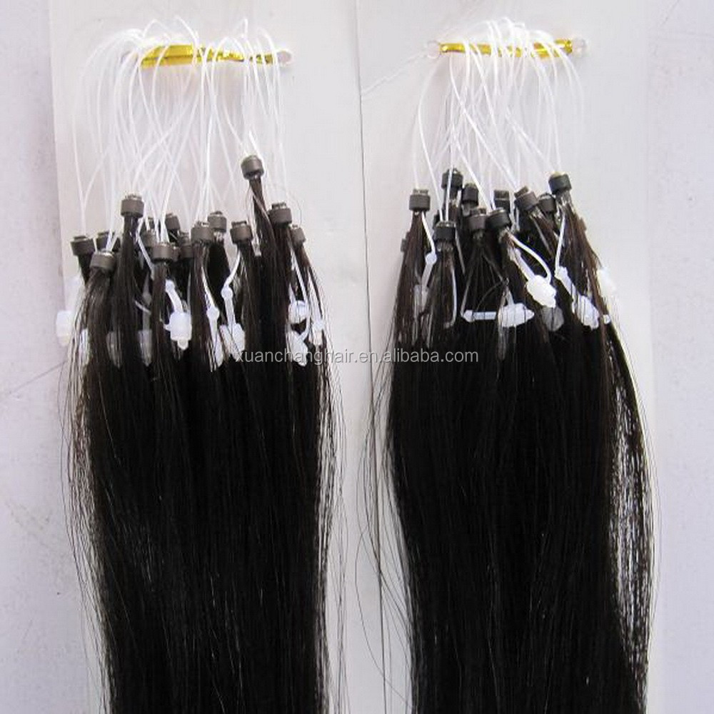 India Remy Hair Micro Ring Extensions Micro Beads Hair Extensions
