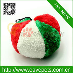 Fashionable New Arrival Animal Soft Plush Christmas Ball Pet Toy Dog Plaything Puppy Product Hang on the Tree H2041