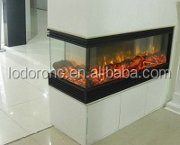 2 sided 220v double sided electric fireplace for Double sided fireplace price