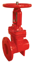 ul fm Approved Rising Type Flanged and Grooved End Gate Valve