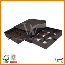 Three Tier Chocolate gift packaging with dividers