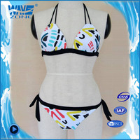 Summer style sexy open lady bikini with print